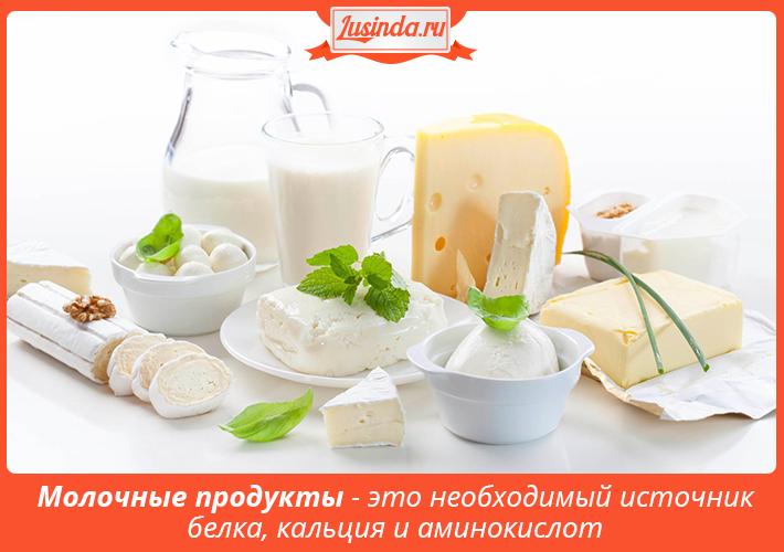Правильное питание - молочные продукты